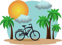 Palm tree Scene Vector