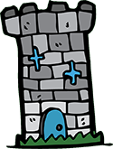 Saltmarshe Castle Turret Vector